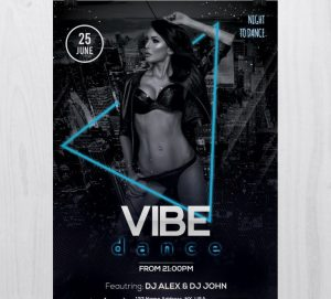 Vibe Dance – Free PSD Flyer Template