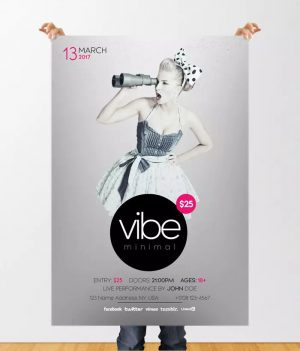 Vibe Minimal FREE PSD Flyer Template