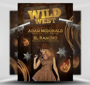 Wild West Free PSD  Flyer Template