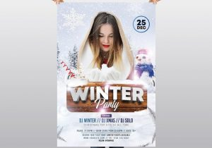 Winter Party – Free PSD Flyer Template