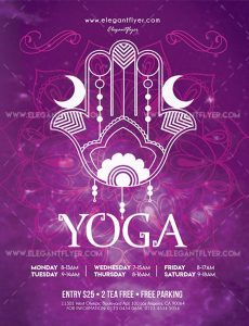 Yoga Free PSD Flyer Template