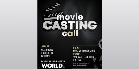 Casting Call – Free PSD Flyer Template