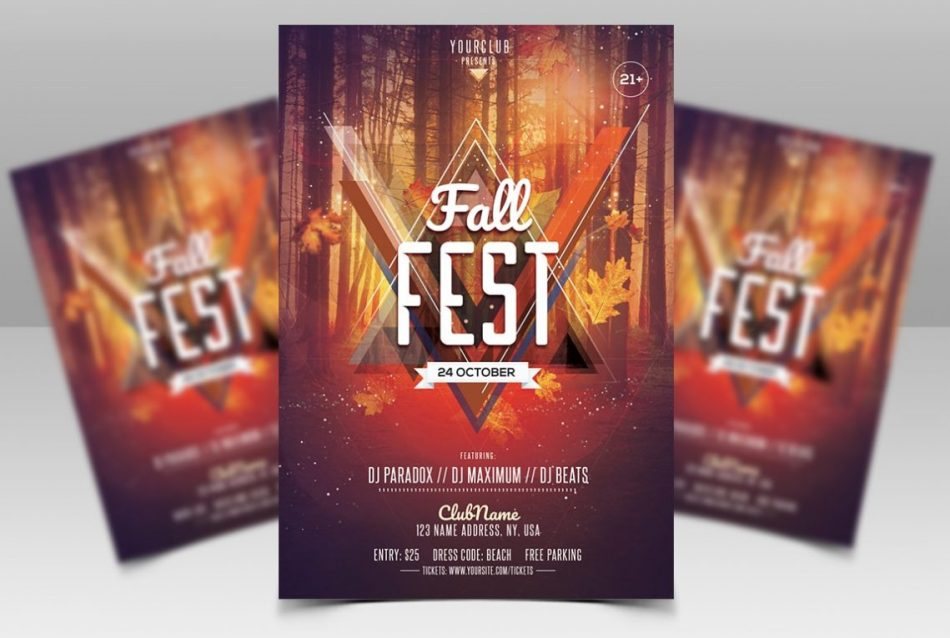 Fall Fest – Download Free Autumn PSD Flyer Template