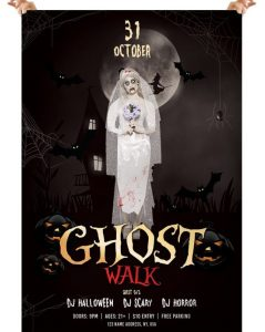 Ghost Walk – Halloween Free PSD Flyer Template