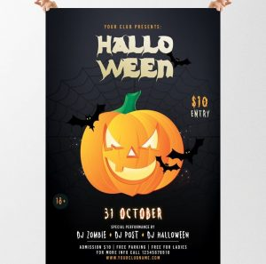 Halloween Party – Free PSD Flyer Template