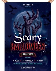 Scary Halloween – Free PSD Flyer Template