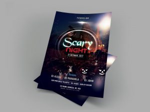 Scary Night – Free Halloween PSD Flyer Template