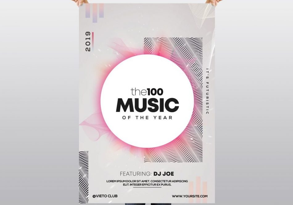 the100 Music – Free PSD Flyer Template