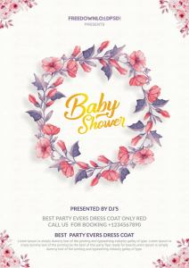 Baby shower invitation Flyer Templates