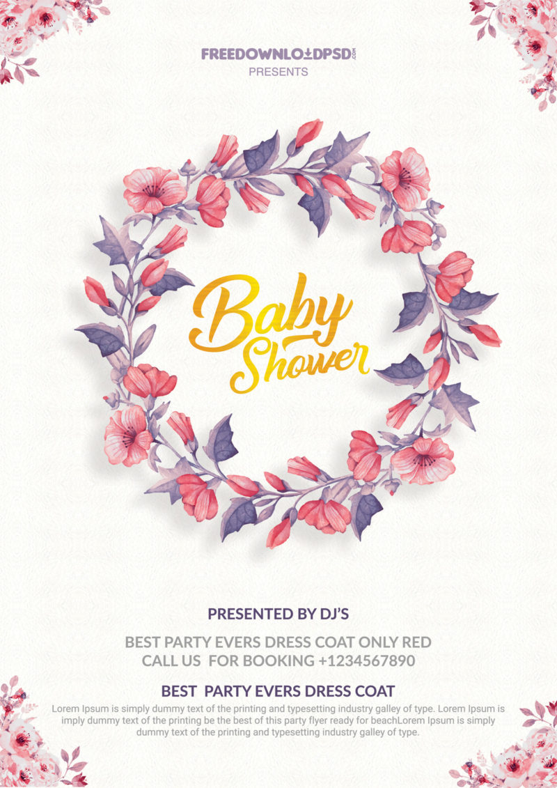 Baby shower invitation Flyer Templates