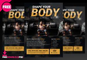 Body Fitness Flyer PSD Template
