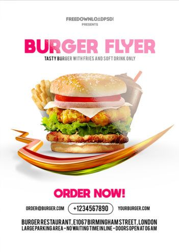 Burger Flyer Free PSD Template