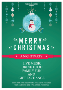 Christmas Party Free Flyer PSD Template
