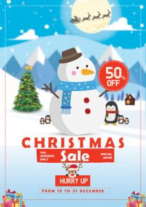 Christmas Sale Free Flyer PSD Template