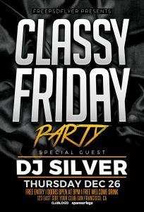 Classy Friday Free Flyer Template