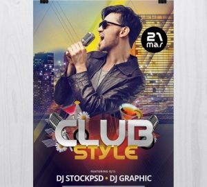 Club Style – Free PSD Flyer Template