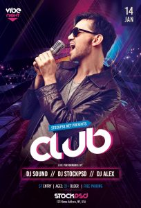 Club Vibe Night – Free PSD Flyer Template
