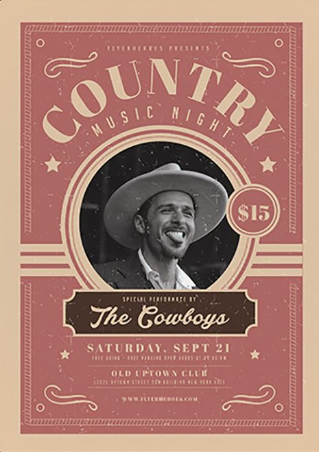 Country Night Free PSD Flyer Template