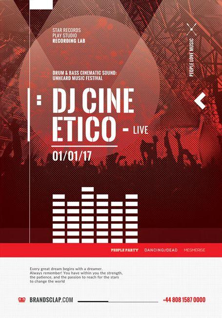 DJ Cine Live – Free PSD Flyer Template