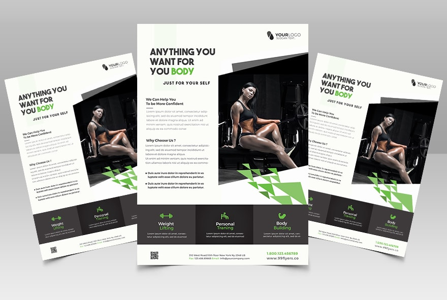 Fit Your Body Fitness Free PSD Flyer