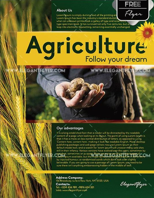 Free Agriculture Corporate Flyer Templates