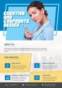 Free Corporate Business Flyer PSD Template