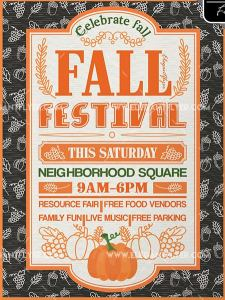 Free Fall Festival – Flyer PSD Template