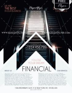 Free Financial Flyer Template