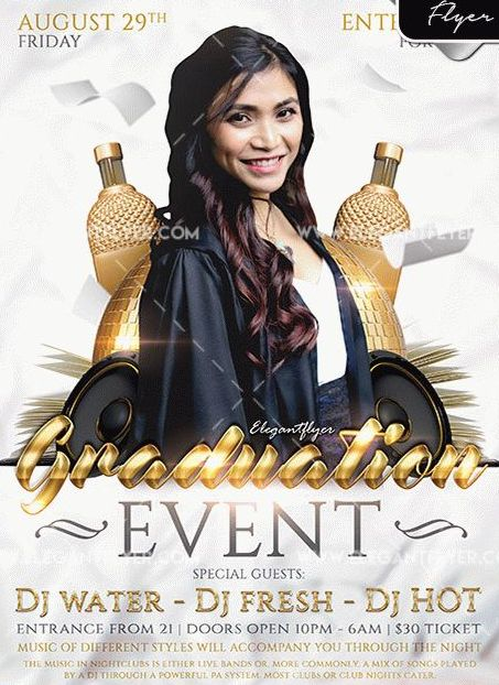 Free Graduation Event Flyer Template