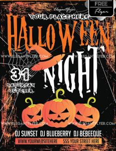 Free Halloween –  Flyer PSD Template