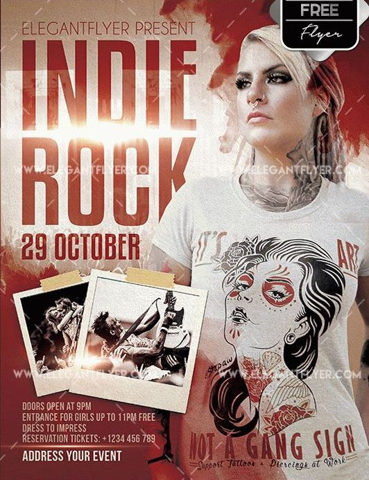 Free Indie Rock PSD Flyer Templates