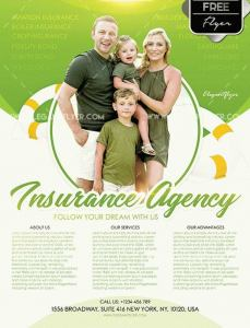 Free Insurance Agency PSD Flyer Template
