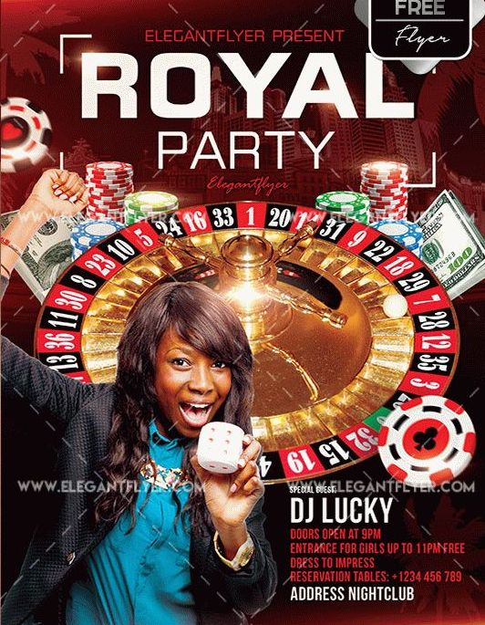 Free Royal Party PSD Flyer Template