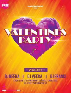 Free Valentine Flyer Templates