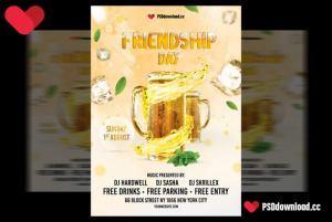 Friendship Day Free Flyer Template