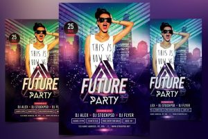 Future Party – Free Flyer Template