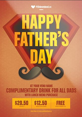 Happy Fathers Day Free Flyer Template