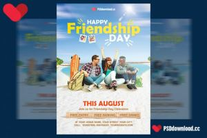 Happy Friendship Day Free Flyer Template