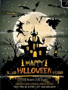 Happy Halloween – Free Flyer PSD Template