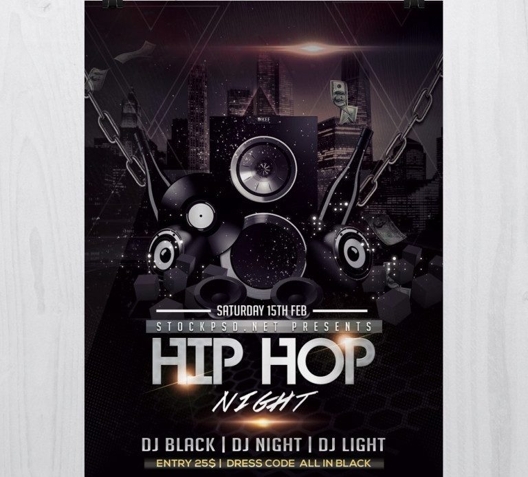 Hip Hop Music – Free PSD Flyer Template