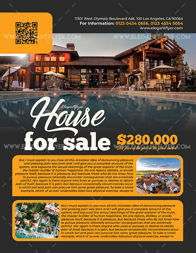 House for Sale – Free PSD Flyer Template