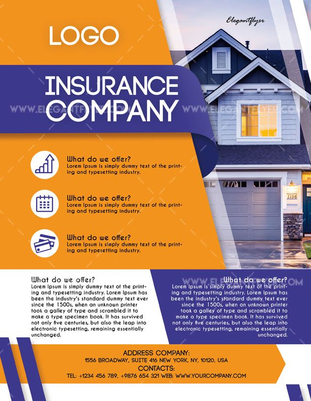 Insurance Company – Free PSD Flyer Template