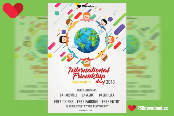 International Friendship Day Free Flyer Template