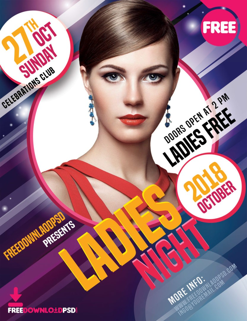 Ladies Night Party Flyer Free Download