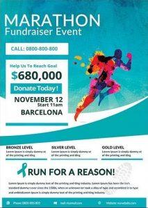 Marathon Fundraiser Free PSD Flyer Template