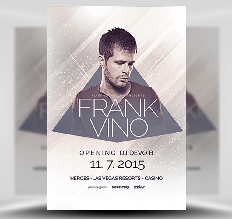 Minimal House DJ Free PSD Flyer Template