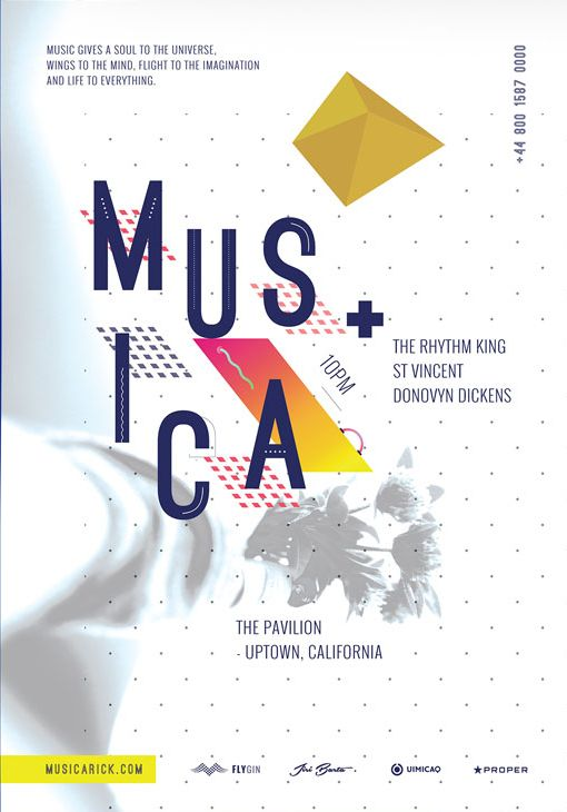 Musica Pavilion – Free PSD Flyer Template