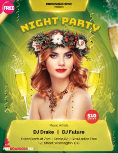Night Party Free Download Flyer