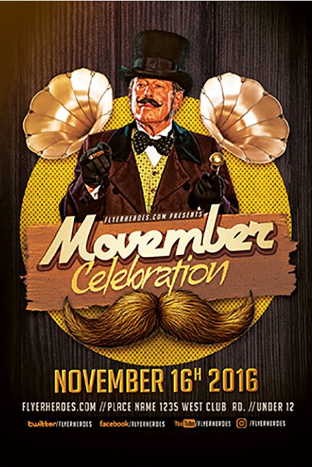November Celebration Free PSD Flyer Template