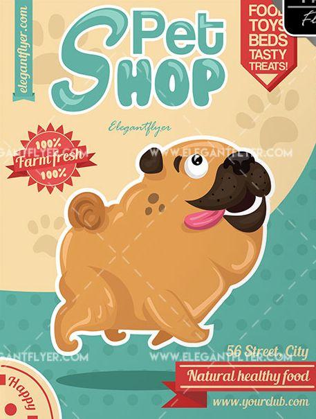 Pet Shop Free PSD Flyer Template